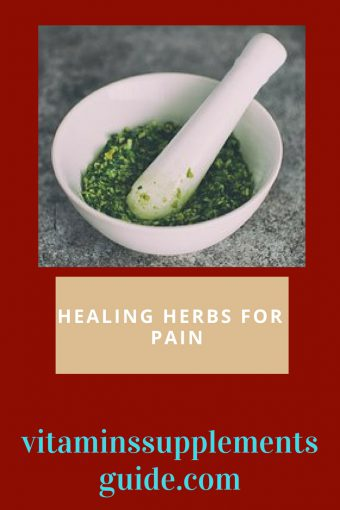 healing herbs for pain